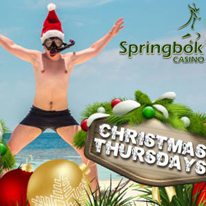 Get Christmas Bonuses Every Thursday This Month at South Africa's Springbok Casino