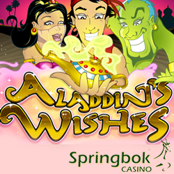 Aladdin's Wishes R2500 Bonus, Free Spins and Double Comp Points at Springbok Casino