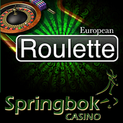 European Roulette Now Available in Rands in Springbok's Online and Mobile Casino