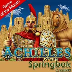 Get 2500 Rands Casino Bonus and 50 Free Spins on Achilles Slot