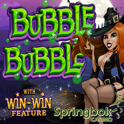 Get R2500 Rands & 100 Free Spins on New Bubble Bubble Slot at Springbok