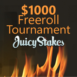 Juicy Stakes Launches New Website with $1000 Freeroll