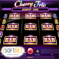 Cherry Trio slot is latest release from fabulous iSoftBet