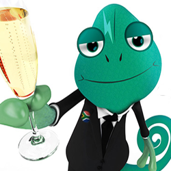 Thando the Chameleon Casino Mascot has Hidden Free Spins on New Homepage