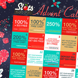 Advent Calendar Casino Bonuses for Next 25 Days at Leading Rival-powered Casinos