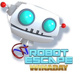 $12 Freebie for WinADay's New Robot Escape Penny Slot