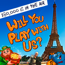 "$80,000 ""Will You Play With Us?"" Giving Frequent Player Bonuses up to $500 Weekly"