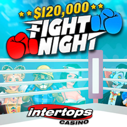 Frequent Players Win up to $500 Weekly during Intertops Casino's $120,000 Fight Night Casino Bonus Event