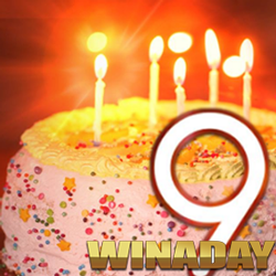 WinADay Casino's 9th Birthday Party Features Birthday Bonuses, Bitcoins & New Game