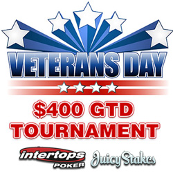 $400 GTD Veterans Day Poker Tournament