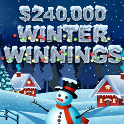 Compete with Other Players for Top Bonuses during $240,000 'Winter Winnings' Contest