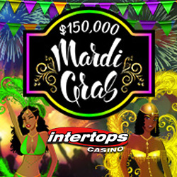 Compete for $150,000 in Mardi Gras Bonuses Intertops Casino