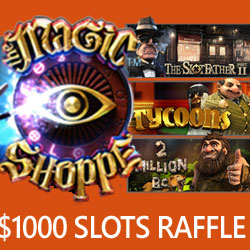 Betsoft Slots Raffle this Weekend Awarding $1000 in Prizes